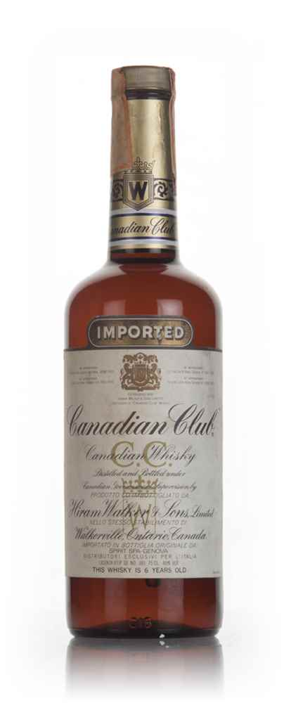 Canadian Club 6 Year Old Whisky (Italian Bottling) - 1980s