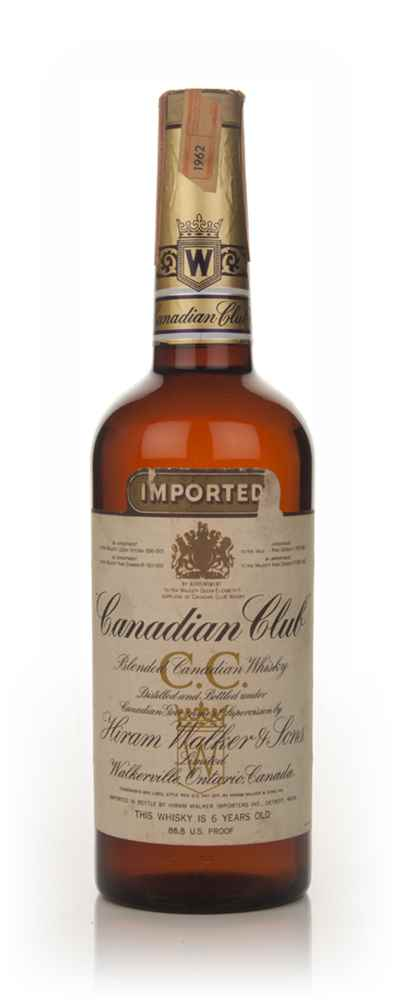 Canadian Club 6 Year Old Whisky - 1962