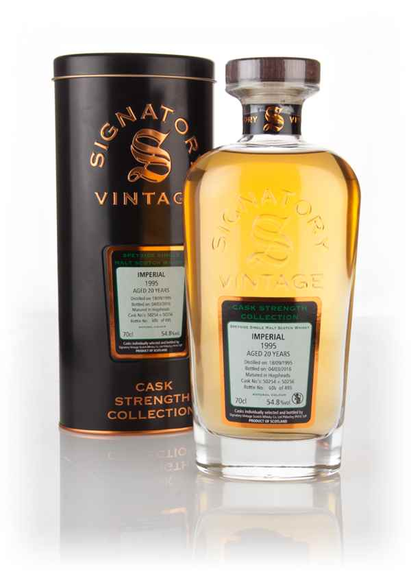 Imperial 20 Year Old 1995 (casks 50254 & 50256) - Cask Strength Collection (Signatory)
