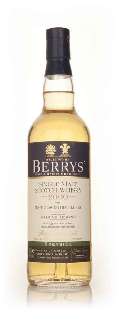 Inchgower 12 Year Old 2000 (cask 809759) (Berry Bros. & Rudd)