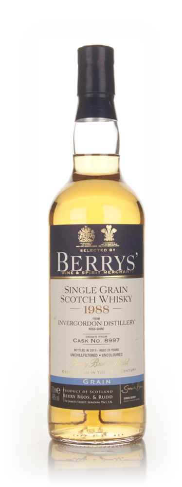 Invergordon 25 Year Old 1988 (cask 8997) - (Berry Bros. & Rudd)