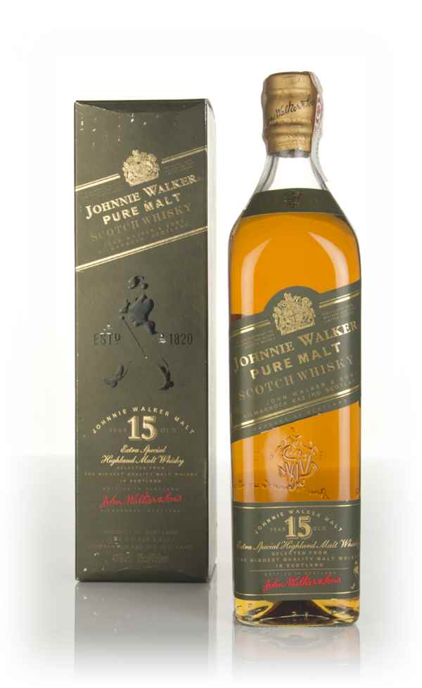 Johnnie Walker Green Label 15 Year Old (Old Bottle) 1990s
