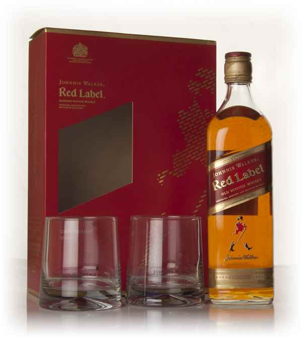 Johnnie Walker Red Label Gift Pack with 2x Glasses
