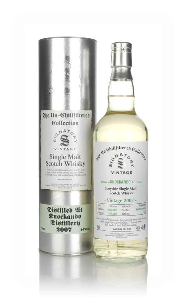 Knockando 12 Year Old 2007 (casks 304103 & 304105) - Un-Chillfiltered Collection (Signatory)