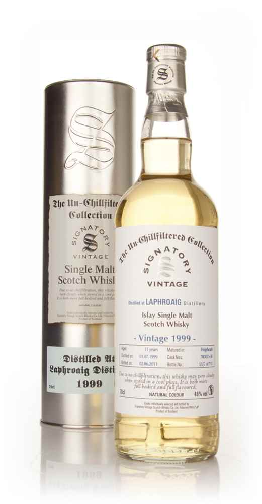 Laphroaig 11 Year Old 1999 - Un-Chillfiltered (Signatory)