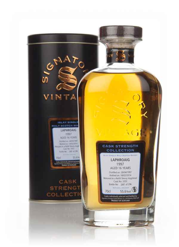 Laphroaig 16 Year Old 1997 (cask 3351) - Cask Strength Collection (Signatory)