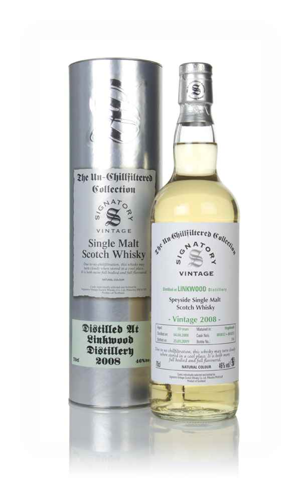 Linkwood 10 Year Old 2008 (casks 803832 & 803833) - Un-Chillfiltered Collection (Signatory)