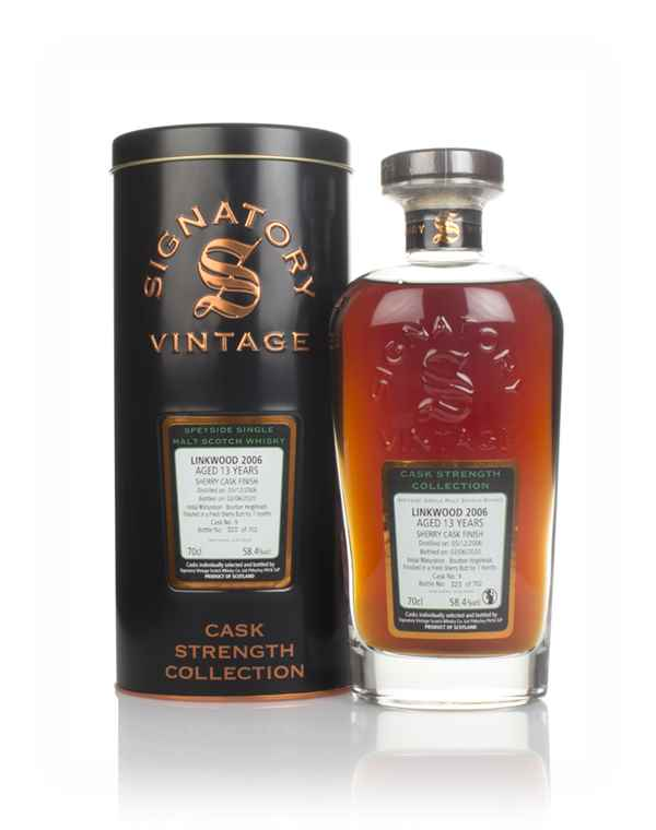 Linkwood 13 Year Old 2006 (cask 9) - Cask Strength Collection (Signatory)