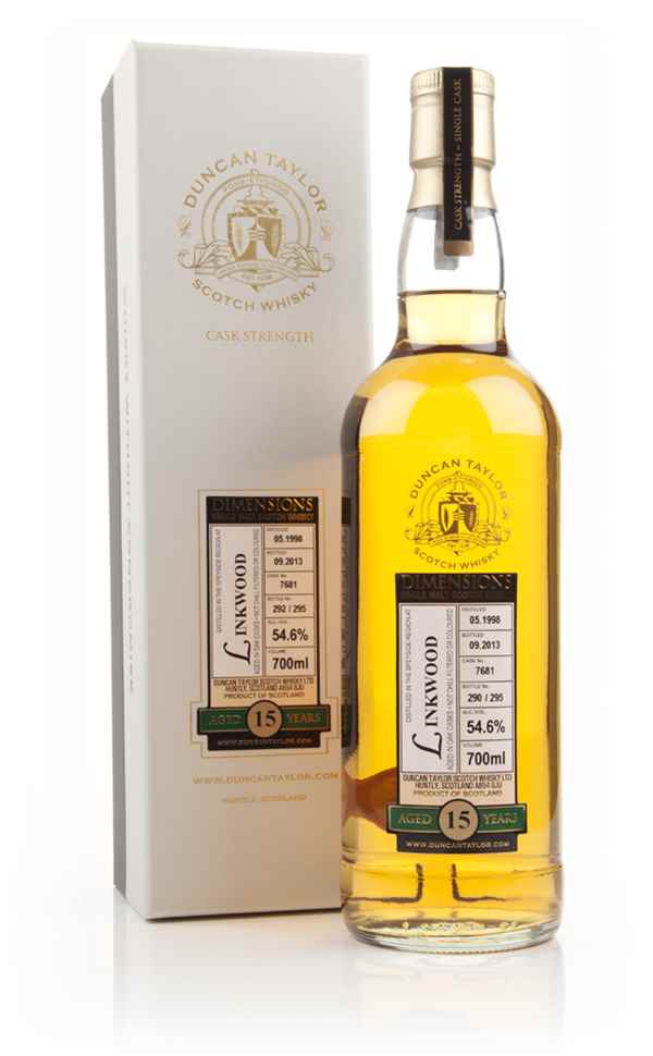 Linkwood 15 Year Old 1998 (cask 7681) - Dimensions (Duncan Taylor)