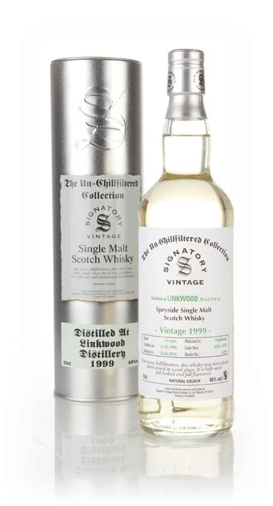 Linkwood 16 Year Old 1999 (casks 6182 & 6183) - Un-Chillfiltered (Signatory)