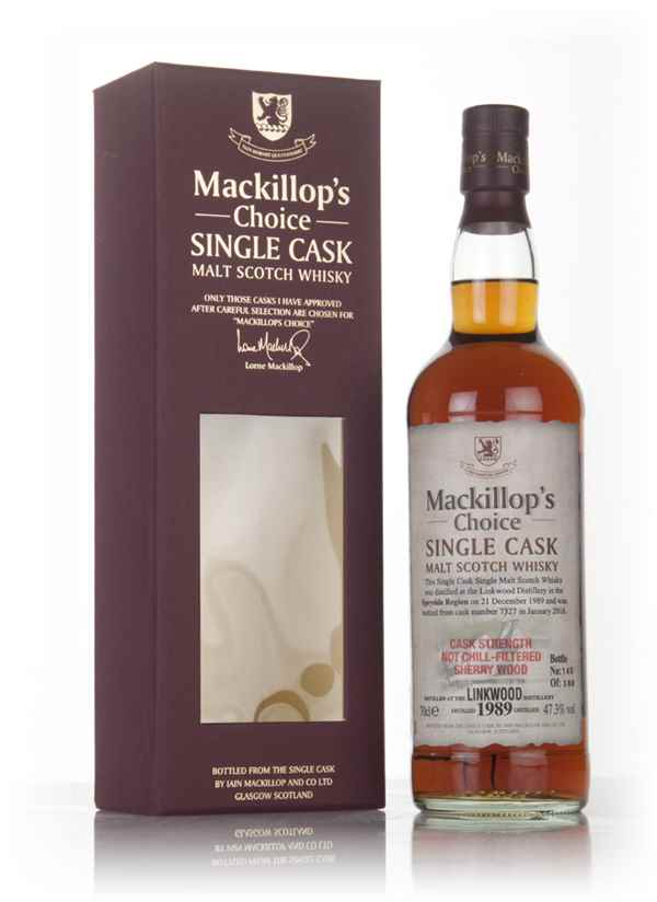 Linkwood 26 Year Old 1989 (cask 7327)  - Mackillop's Choice