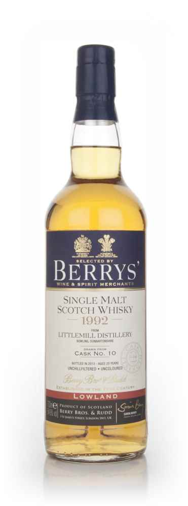 Littlemill 20 Year Old 1992 (cask 10) (Berry Bros. & Rudd)