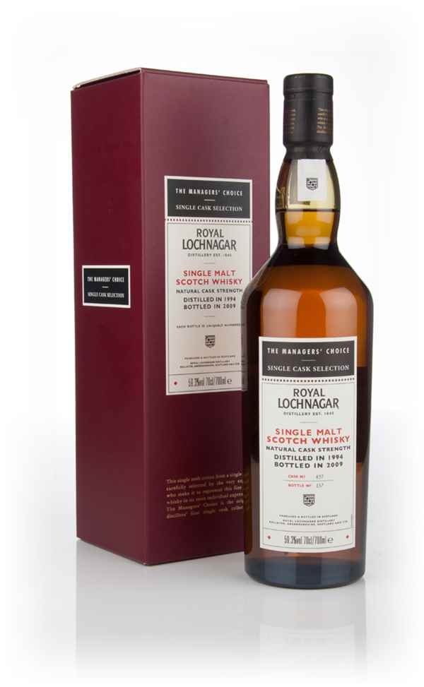 Royal Lochnagar 1994 (cask 837) - Managers Choice