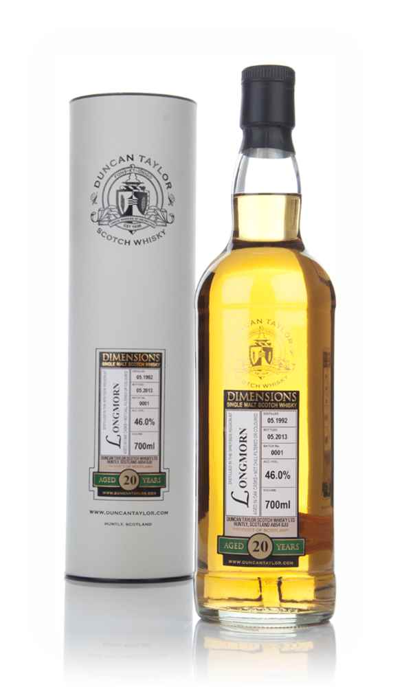 Longmorn 20 Year Old 1992 (Batch 0001) - Dimensions (Duncan Taylor)