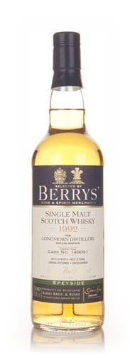 Longmorn 20 Year Old 1992 (cask 149091) - (Berry Bros. & Rudd)