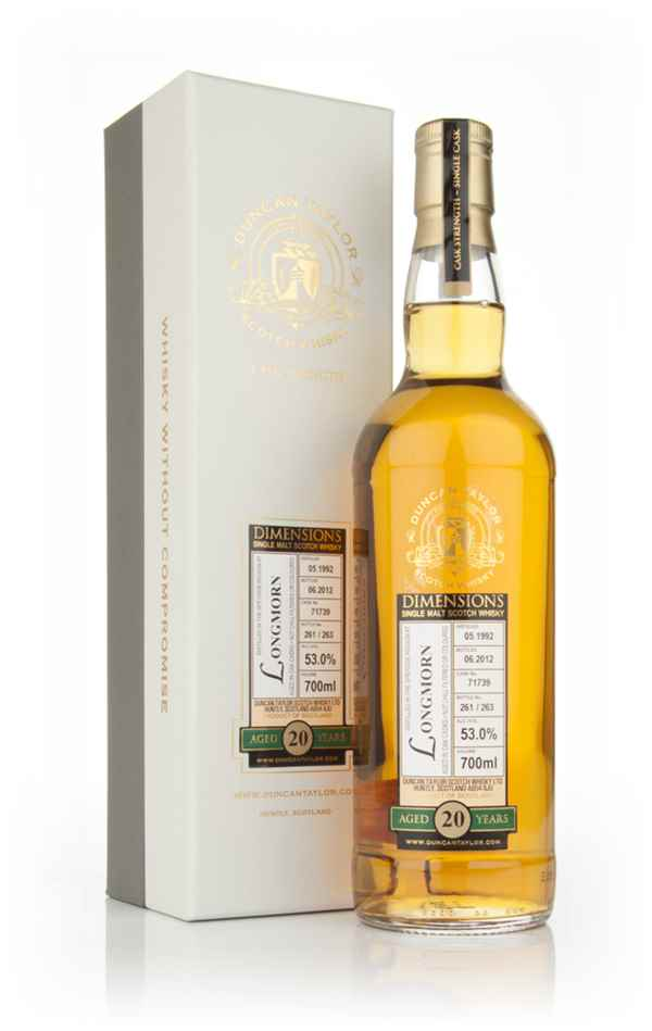 Longmorn 20 Year Old 1992 - Dimensions (Duncan Taylor)