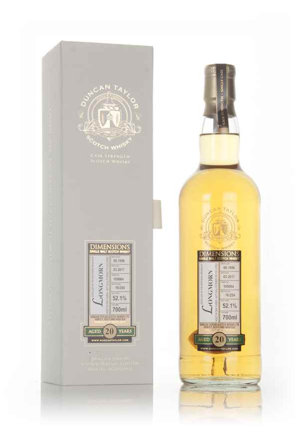 Longmorn 20 Year Old 1996 (cask 105064) - Dimensions (Duncan Taylor)