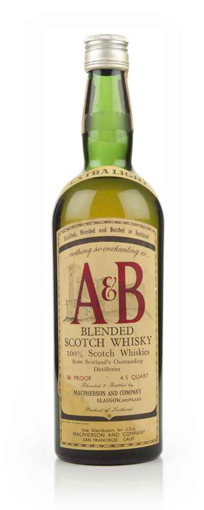 A & B Blended Scotch Whisky - 1960s