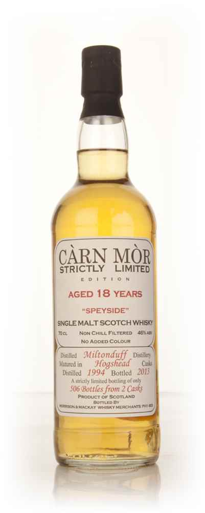 Miltonduff 18 Year Old 1994 - Strictly Limited (Càrn Mòr)
