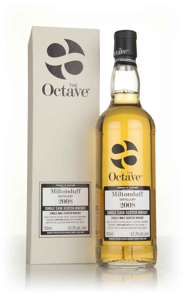 Miltonduff 9 Year Old 2008 (cask 8315993) - The Octave (Duncan Taylor)