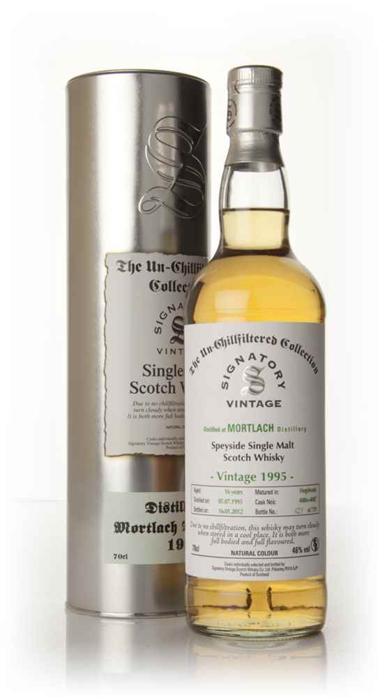 Mortlach 16 Year Old 1995 - Un-Chillfiltered (Signatory)