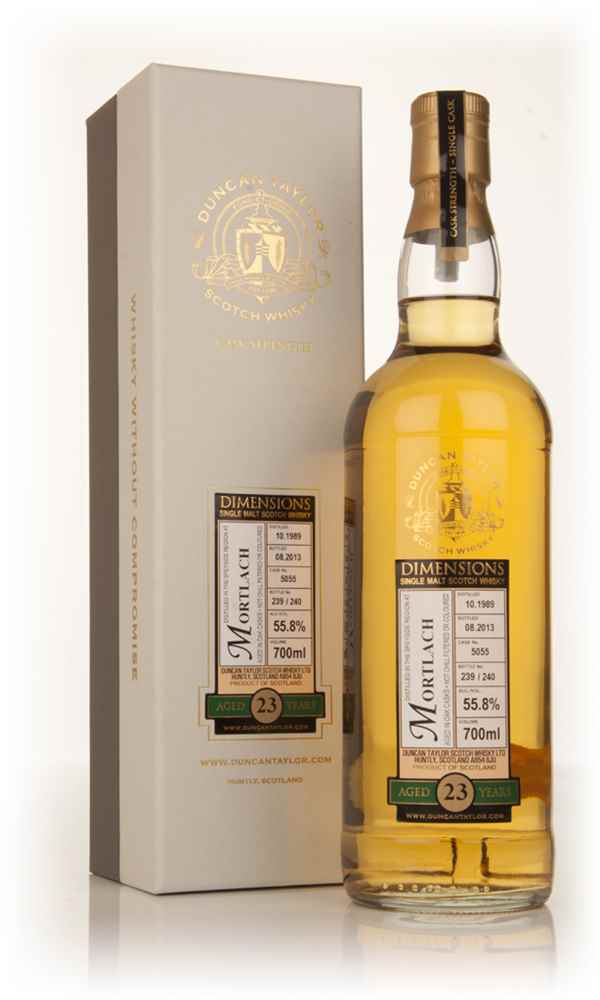 Mortlach 23 Year Old 1989 (cask 5055) - Dimensions (Duncan Taylor)