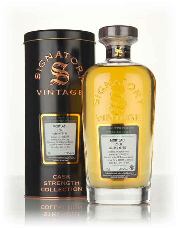 Mortlach 9 Year Old 2008 (casks 800058 & 800061) - Cask Strength Collection (Signatory)