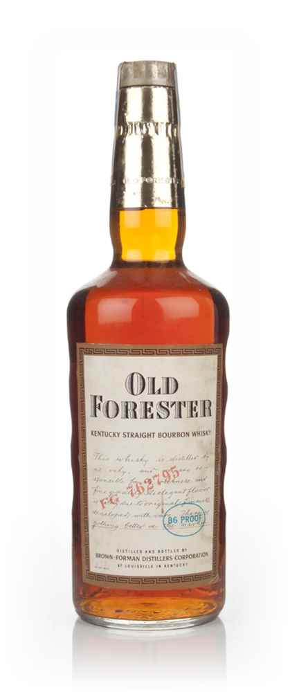 Old Forester Kentucky Bourbon (bottled 1968)