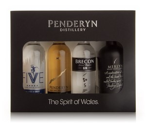 Penderyn The Spirit of Wales Gift Set 4x5cl