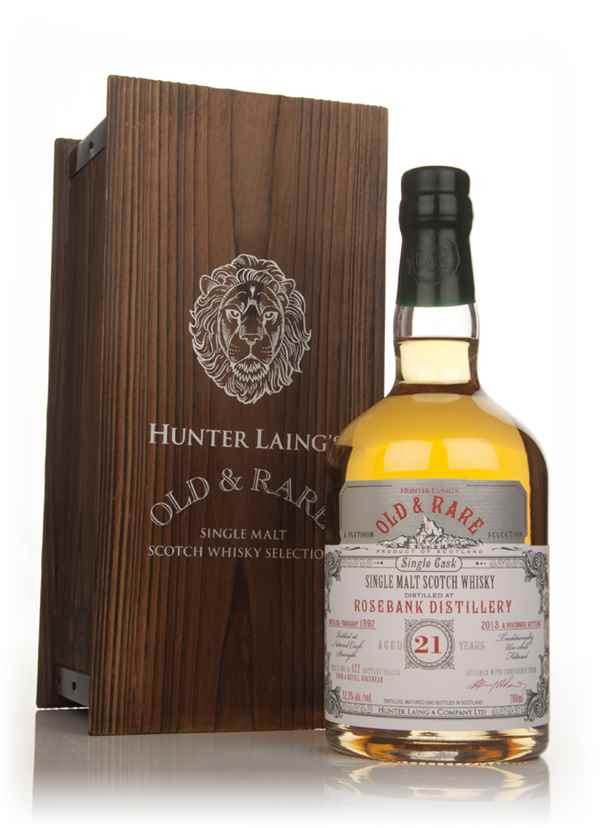 Rosebank 21 Year Old 1992 - Old & Rare Platinum (Hunter Laing)