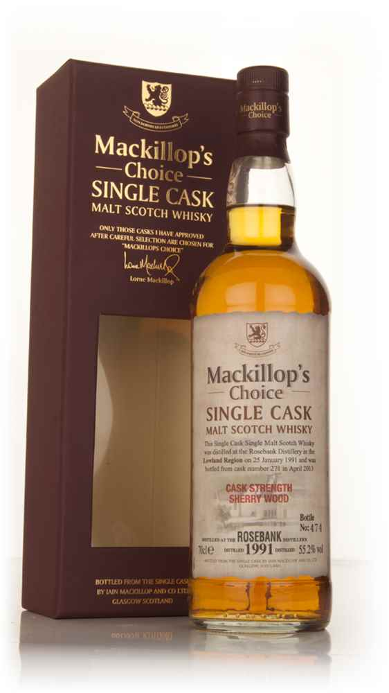 Rosebank 22 Year Old 1991 (cask 271) - Mackillop's Choice