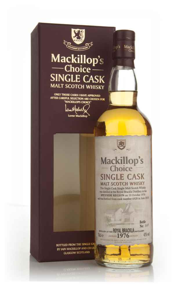 Royal Brackla 33 Year Old 1976 (cask 6920) - Mackillop's Choice