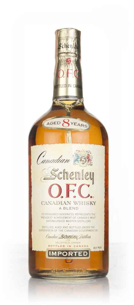 Schenley O.F.C. 8 Year Old Canadian Whisky 118cl - 1967