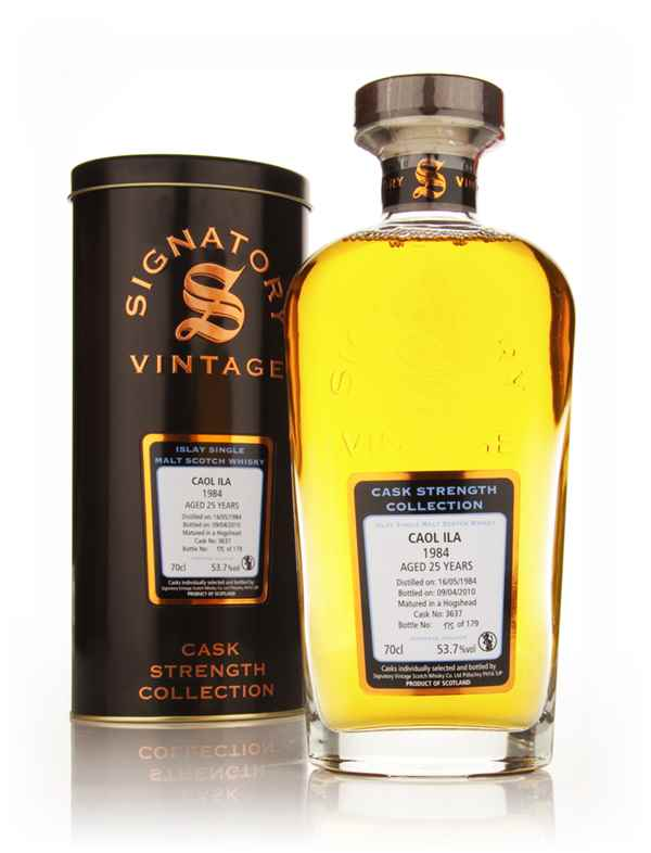 Caol Ila 25 Year Old 1984 Cask 3637 - Cask Strength Collection (Signatory)