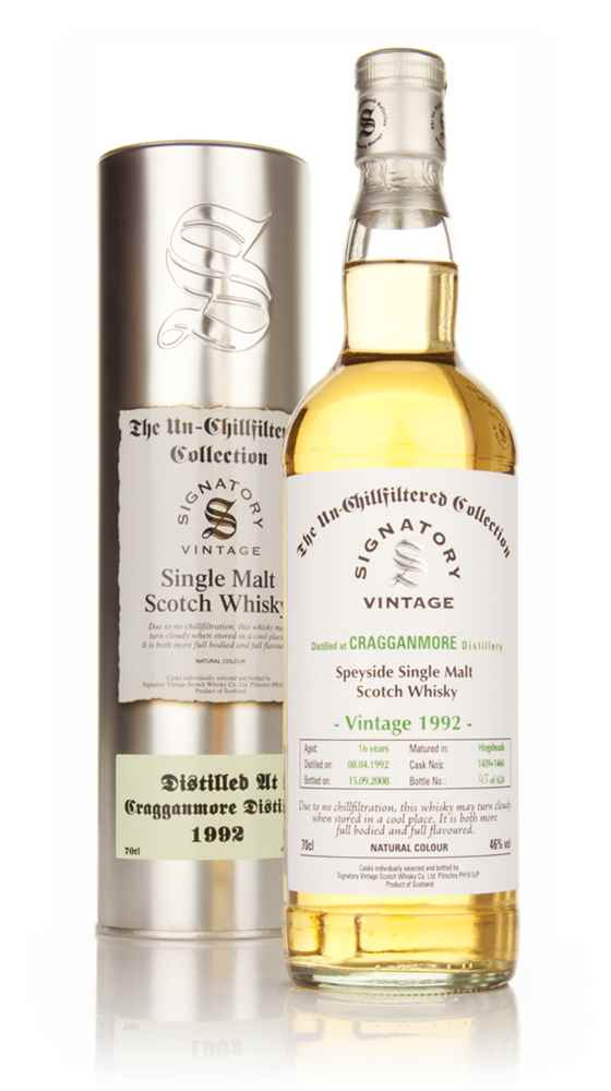 Cragganmore 16 Year Old 1992 - Un-Chillfiltered (Signatory)