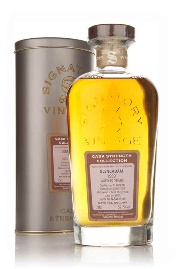 Glencadam 20 Year Old 1989 Cask 6020 - Cask Strength Collection (Signatory)