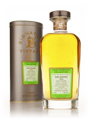 Rare Ayrshire 34 Year Old 1975 Cask 558 - Cask Strength Collection (Signatory)