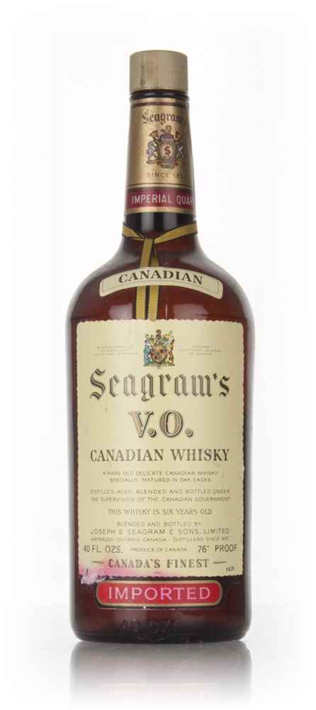 Seagram's V.O. 6 Year Old Canadian Whisky - 1969