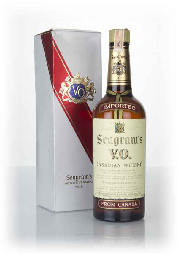 Seagram's V.O. 6 Year Old Canadian Whisky (Boxed) - 1976