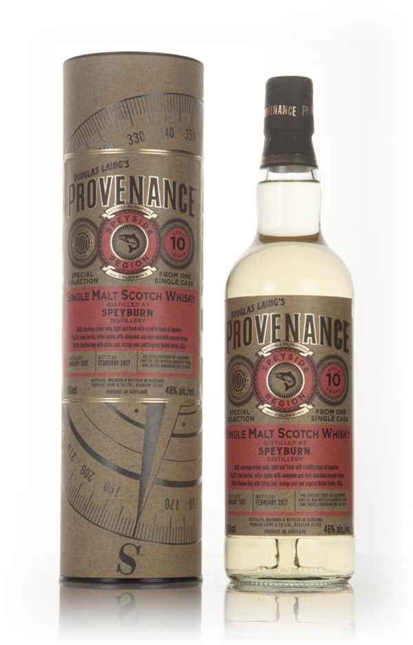 Speyburn 10 Year Old 2007 (cask 11641) - Provenance (Douglas Laing)