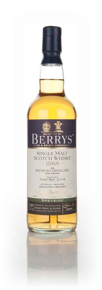 Speyburn 26 Year Old 1988 (cask 2114) (Berry Bros. & Rudd)
