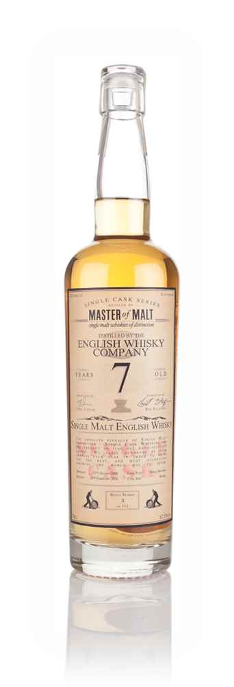 English Whisky Co. 7 Year Old 2008 (cask B1/491) - Single Cask (Master of Malt)