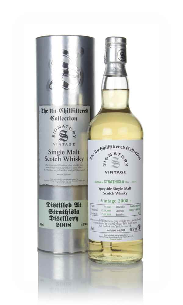 Strathisla 10 Year Old 2008 (casks 800117 & 800118) - Un-Chillfiltered Collection (Signatory)
