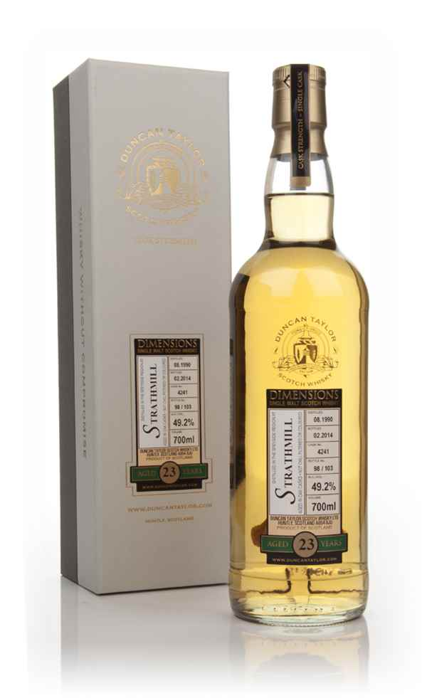 Strathmill 23 Year Old 1990 (cask 4241) - Dimensions (Duncan Taylor)