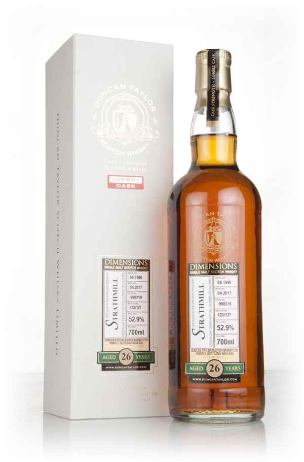 Strathmill 26 Year Old 1990 (cask 998319) - Dimensions (Duncan Taylor)