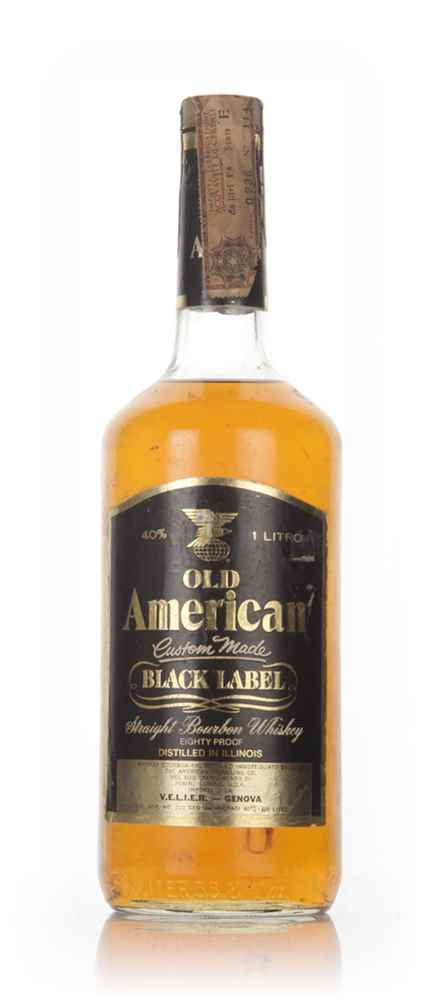 Old American Black Label - 1980s