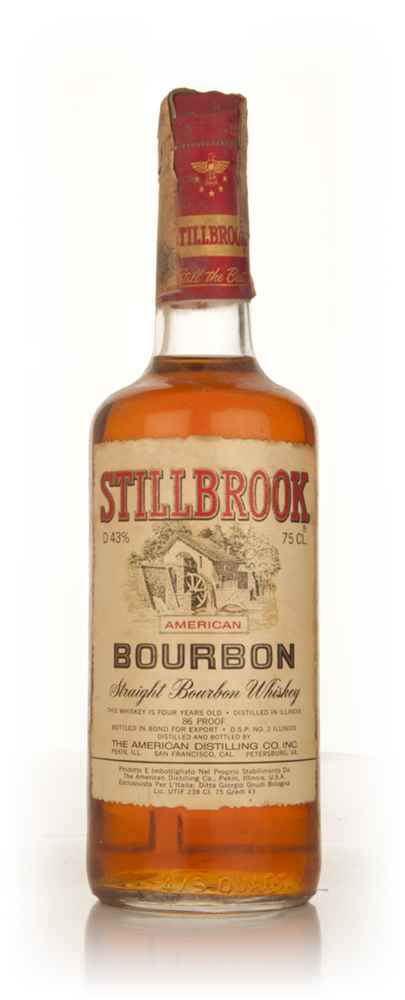 Stillbrook 4 Year Old American Straight Bourbon Whiskey - 1960s