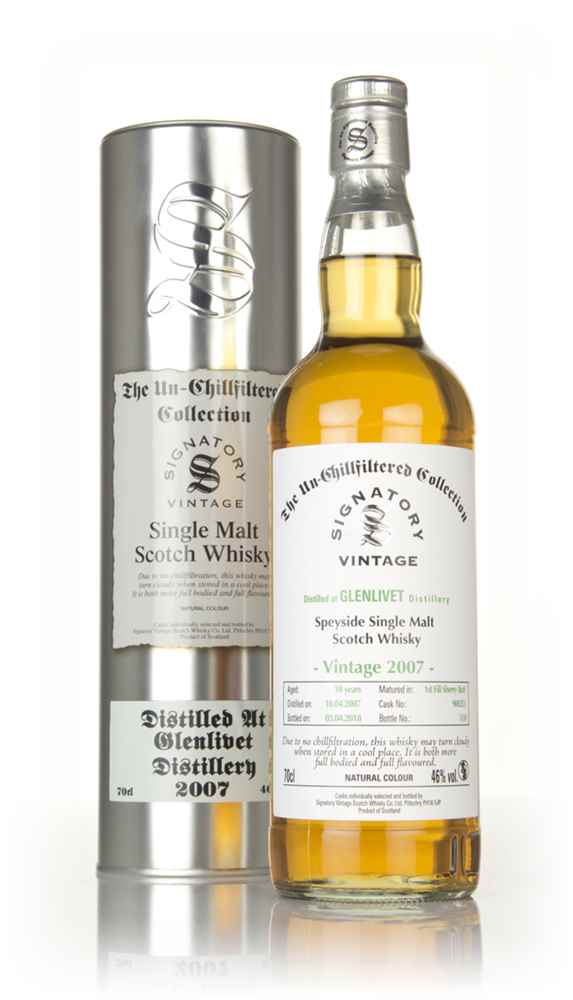 Glenlivet 10 Year Old 2007 (cask 900255) - Un-Chillfiltered Collection (Signatory)