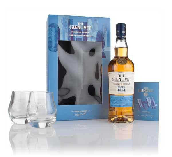The Glenlivet Founder's Reserve Gift Set with x2 Glasses