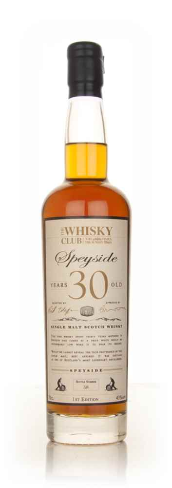 The Whisky Club 30 Year Old Speyside